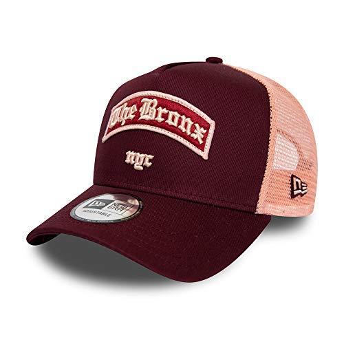 New Era The Bronx Cap Verstellbar Trucker USA Patch Sommer Weinrot -...