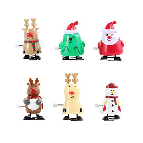 Tomaibaby 6 Stück Wind Up Spielzeug Schneemann Rentier Weihnachtsbaum Santa Claus Pinguin Uhrwerk Spielzeug Figur Weihnachten Weihnachtsfeier Liefert Gefälligkeiten Goodie Bag Füller