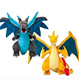 Miss Bloom Set of 2 Anime Mega Charizard X Y Prime Poke Evolution Stuffed Cuddly Cute Plush Toy