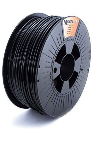 Basicfil PET 2.85mm, 1 kg filamento per stampante 3D, Nero