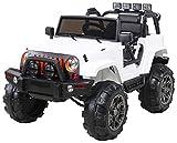Niños Coche eléctrico Todoterreno Jeep 2 x 35 Vatios - Blanco