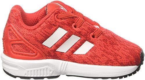 adidas ZX Flux El I, Sneakers Mixte bébé, Rouge Red S17/ftwr White/Core Black, 20 EU