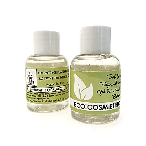 Eco Cosm.Ethic – Bagnoschiuma Ecologico in boccetta Inglesina, 32 ml, Certificazione EU Ecolabel, Profumazione Agrumata, Linea Cortesia Ecologica per Hotel e B&B - 285 pz -