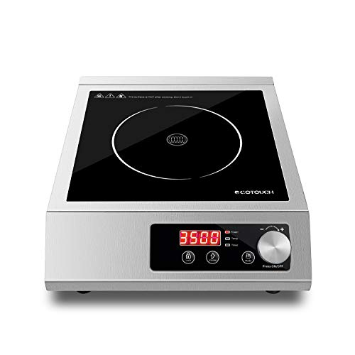 Professional/Commercial Portable Induction Cooktop, ECOTOUCH Countertop Burner 3500W(240V) Kitchen...