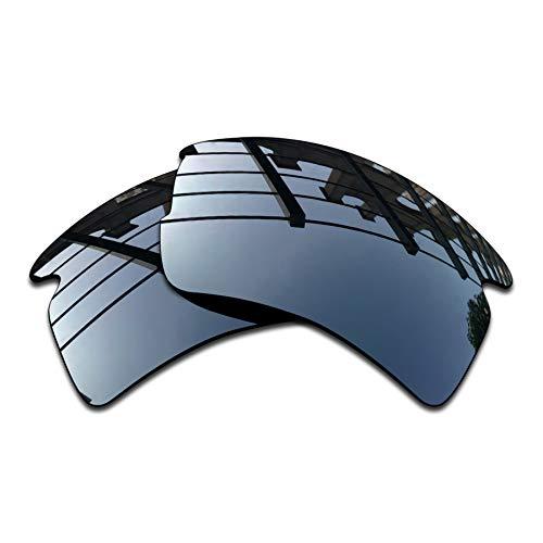 SEEABLE Premium Polarized Mirror Replacement Lenses for Oakley Flak 2.0 XL OO9188 Sunglasses - Black Chrome Mirror