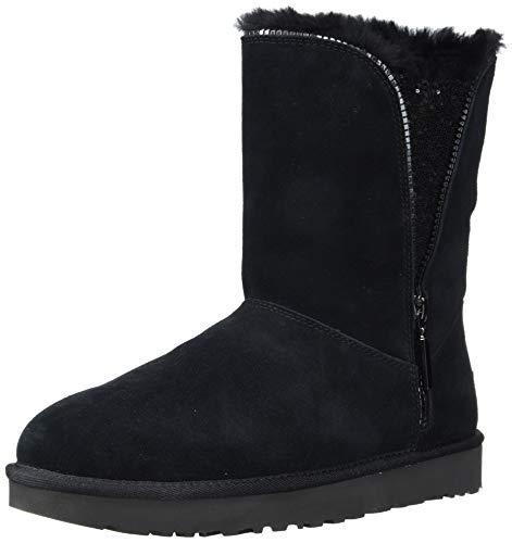 UGG W Classic Zip Boot, Botas Mujer, Negro (Black Blk), 36 EU