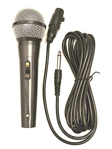 Micrófono vocal tipo dinámico, Conector Jack 6,3 mm Micrófono...