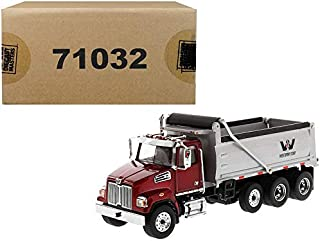 Western Star 4700 SF Tandem Day Cab Tractor Metallic Red 1/50 Diecast Model by Diecast Masters 71037