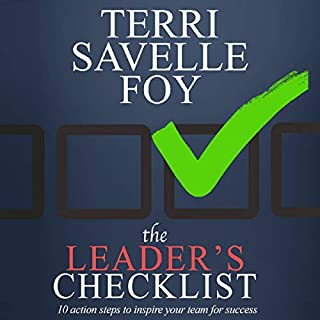 The Leader's Checklist: 10 Action Steps to Inspire Your Team for Success audiobook cover art