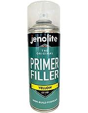 Jenolite Pintura de aerosol de relleno de imprimación - Imprimación flexible con altas propiedades de relleno - Amarillo - 400ml
