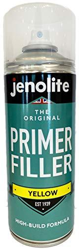 JENOLITE Vernice Spray Per Primer - Primer flessibile con elevate proprietà di riempimento - Giallo - 400 ml
