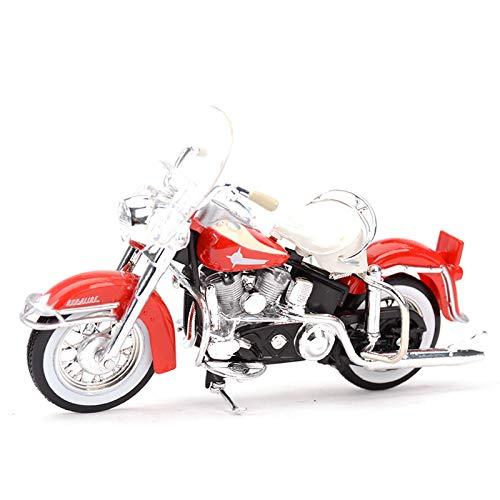 JIALI Trommel kompatibel mit Harley 1962 FLH Duo Glide Motorrad Modell Diecast 1/18 Legierung Spielzeug Off Road...