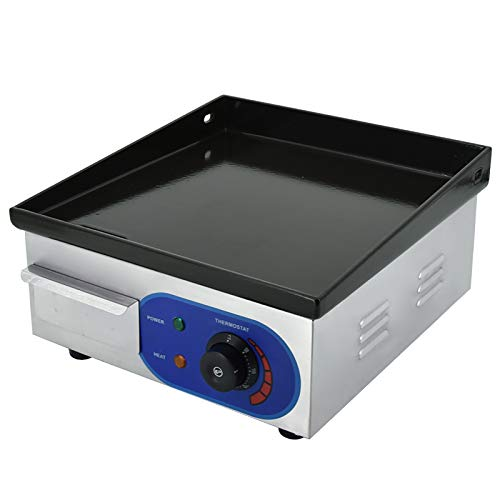 Electric Countertop Griddle,1500W Enamel Cast Iron Cooking Plate with Temp...