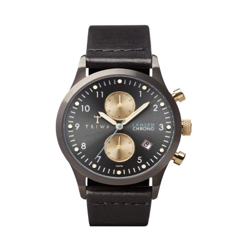 TRIWA Walter Lansen Chrono Armbanduhr schwarz LCST101_CL012713