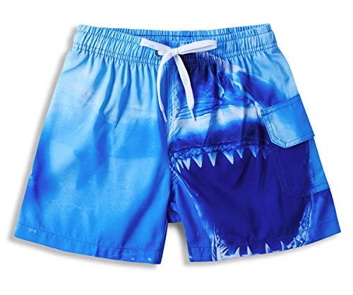 ALISISTER 3D novità Squalo Blu Camion Grafico Pantaloncini Piscina Bambino Estate Casuale Hawaiano Costume da Bagno Shorts per 3-4 Anni Ragazzi