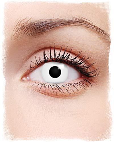 Horror-Shop Weiße Zombie Kontaktlinsen für Halloween als Partylinse