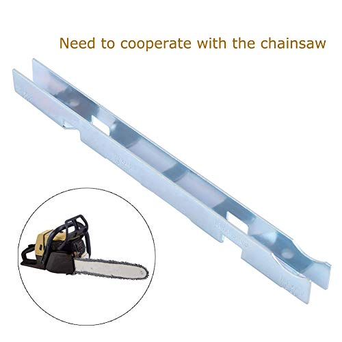 Chain Saw Sharpening Tool Kit Depth Gauge Carbon Steel Universal Chainsaw Chain Depth Gauge File Guide Tools Guide Bar Groove Cleaner [Pack of 2]