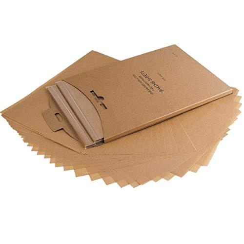 Pergament Backpapier, Antihaft, Vorgeschnitten 30,5 x 40,5 cm (120 Blätter) - Exakte Passform für Backblech, wiederverschließbare Verpackung