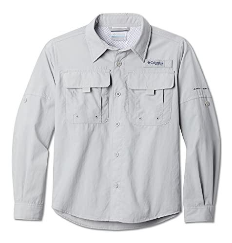 Columbia Boys' Big Bahama Long Sleeve Shirt, Cool Grey, Medium