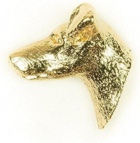disfruta ahorrando 30-50% de descuento MANCHESTER MANCHESTER MANCHESTER TERRIER HEAD Made in U.K Artistic Style Dog Clutch Lapel Pin Collection 22ct oro Plated by DOG ARTS JP  punto de venta