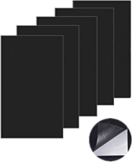 Leather Repair Patch,Leather Adhesive Kit First-aid Adhesive for Sofas Car Seats Adhesive Handbags Jackets, 5 pcs (Black)
