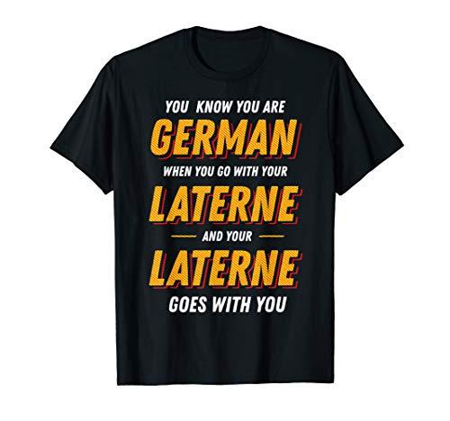 Lustige St Martins Laterne Kleidung Denglisch Spruch T-Shirt