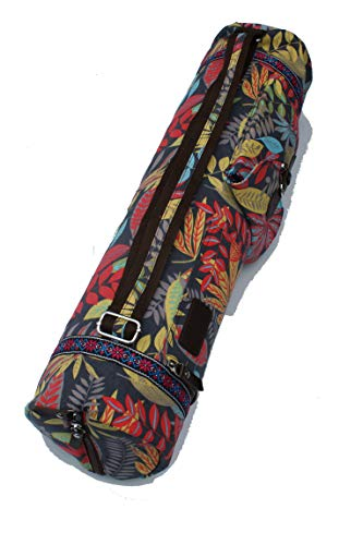 Bolsa de yoga de algodón extra grande para esterilla de yoga, accesorios de gimnasio, mochila, bolsa de transporte, fitness, pilates, yoga (rojo)