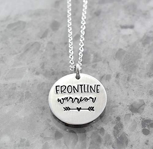 Nurse Necklace Frontline Warrior Doctor Gift Covid 19 Coronavirus Warrior Frontline Responders Gift ER Nurse 2020