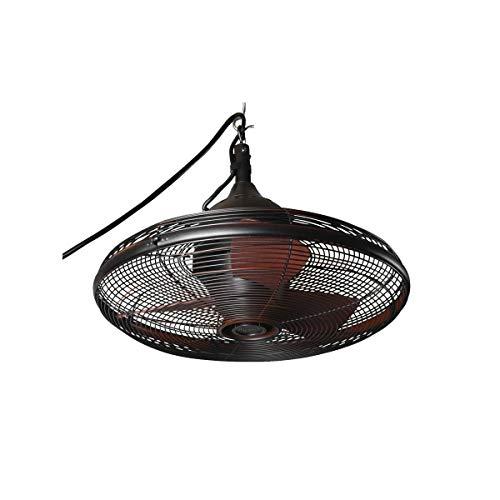 Allen & Roth Valdosta 20-in Oil-Rubbed Bronze Outdoor Downrod Mount Ceiling Fan