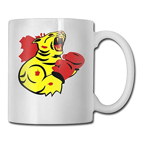 Coffee Mug Novelty Birthday Rogue Tiger Boxer Ceramic Tea Cup