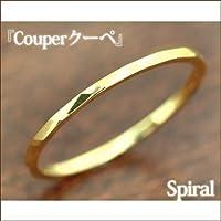 SISTINA JEWELRY システィーナ オリジナルジュエリー K18 クーペ Spiral-スパイラル- カットデザインリング (K18イエローゴールド, 4)