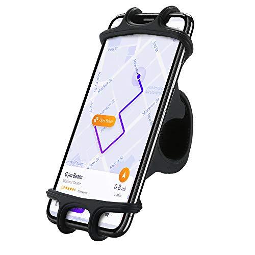 FLOVEME - Supporto universale per cellulare da bicicletta, girevole a 360°, per iPhone X/8/7/6/6s Plus, Samsung Galaxy S8/S7 Edge/S7/S6, LG G5/G4, ecc, colore: Nero