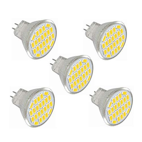 WELSUN Bombilla LED MR11 gu4, 4W (sustituye a 40W), Blanco cálido/Blanco frío, Pack de 5 [energética Clase (Color : Blanco cálido)