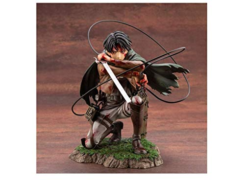 Attack On Titan Anime Figure Artfx J Levi Ackerman Action Figure Package Ver. PVC Action Figure Toys Collection Model Doll Gift (Without Box)