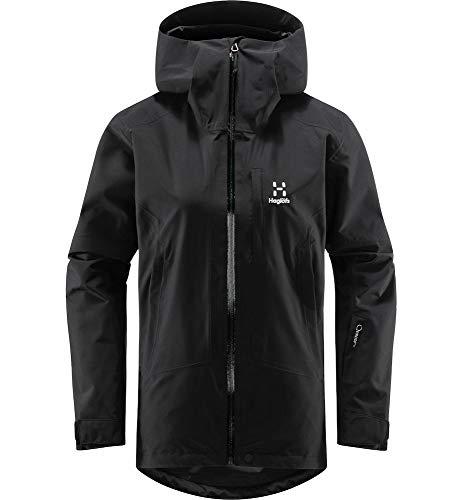 Haglöfs Skijacke Frauen Skijacke Lumi Jacket Wasserdicht, Winddicht, Atmungsaktiv True Black XL XL