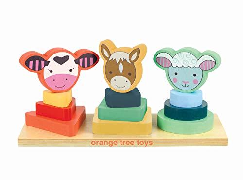 Orange Tree Toys Empilable en Forme d'animaux de la Ferme