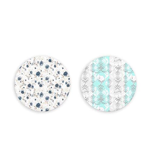 Imanes para nevera de yogur congelado de Blueberry – 2 imanes para nevera, perfecto juego de imanes decorativos con caja de almacenamiento