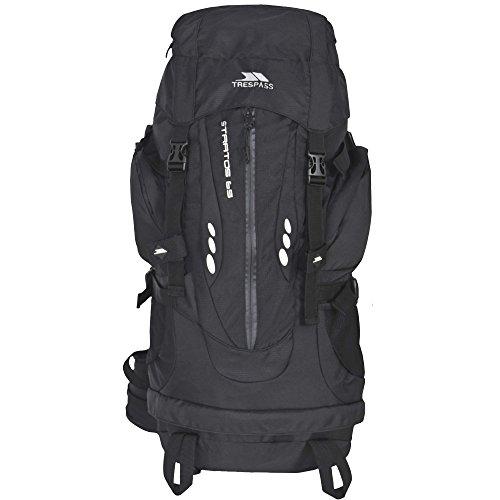 Trespass Stratos - Sac à dos de randonnée(65 litres) (Taille unique) (Noir)