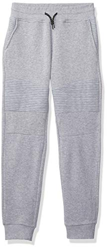 Southpole Boys' Fashion Fleece Jogger Pants in Various Design and Colors, Heather Grey Biker, Large