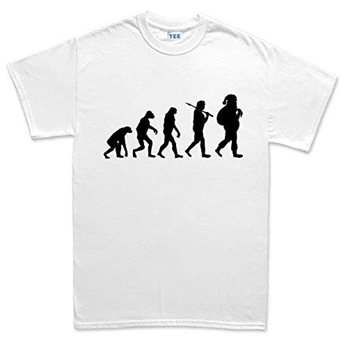 MensEvolutionofSantaChristmasT Shirt(Tee)WHT XL White