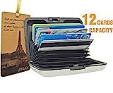 UTRAX 12 Slots Metal Cards Wallet Multi Pockets Aluminum Purse Credit Card Organizing Hard Case Holder for RFID Scan...