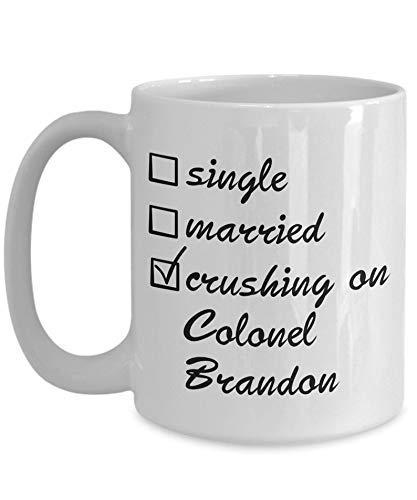N\A Taza Colonel Brandon Inspirada en la sensibilidad sensorial de Jane Austen - 11 Taza de café y té
