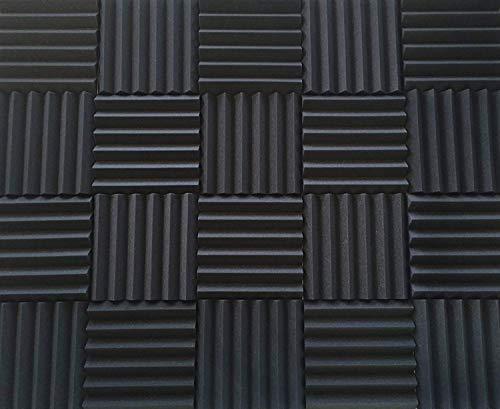"Soundproofing Acoustic Studio Foam - Wedge Style Acoustic Foam Panels 12""x12""x2"" Tiles - 4 Pack - DIY"