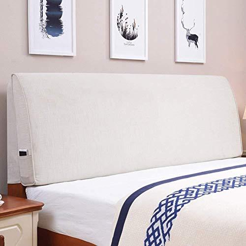 Kopfbrett Kopfteil Nacht Kissen Taille Pads Tuch-Kunst-weiche Kasten vergrösserte Rückseite Bettdecke waschbar, Schwamm Füllung, mit Kopfteile, 5 Farben, 7 Größen (Farbe: Rosa, Größe: 190 cm), Größe: