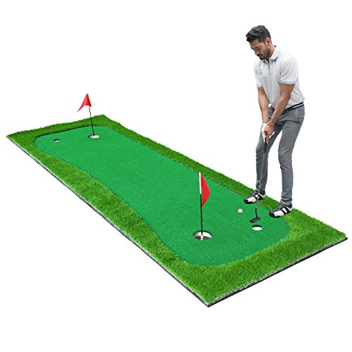 SkyLife Golf Putting Green Mat 3.3'x10', Professional Golf Practice Trainning Aid System for Home Office Indoor Outdoor Use (3.3'x10')