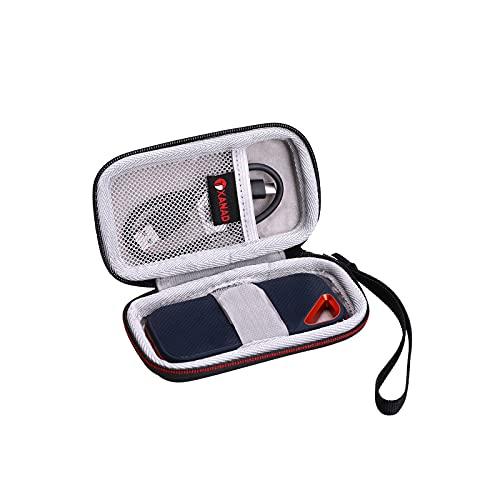 XANAD Tasche für SanDisk Extreme Pro 2000MB/s / Extreme 1050MB/s / 520MB/s 480GB 500GB 1TB 2TB Portable SSD Mobiler Speicher Festplatte Schutz Hülle