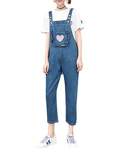 Peto Jeans Mujer con Fashion Vintage Baggy Bolsillos Vaqueros Overall Ropa de...