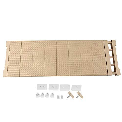 Hyuduo Verstellbares Fach, Regal, Schrank, Regal, verstellbare Ablage für Schrank, Badezimmer, Küchenschränke, (XL 75 – 120 cm))