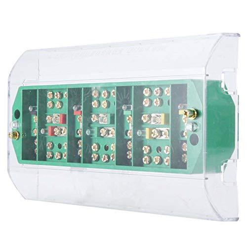 Caja de conexiones anti-humedad, 40 ℃ a 60 ℃ 660V, 50Hz 5-20A potencia eléctrica externa con plástico y metal (transparente)