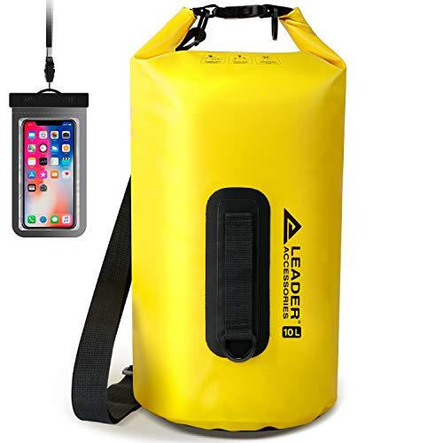 Leader Accessories Wasserdichte Tasche aus Vinyl für Bootfahren, Kajakfahren, Angeln, Rafting, Schwimmen und Camping (gelb, 40 l)